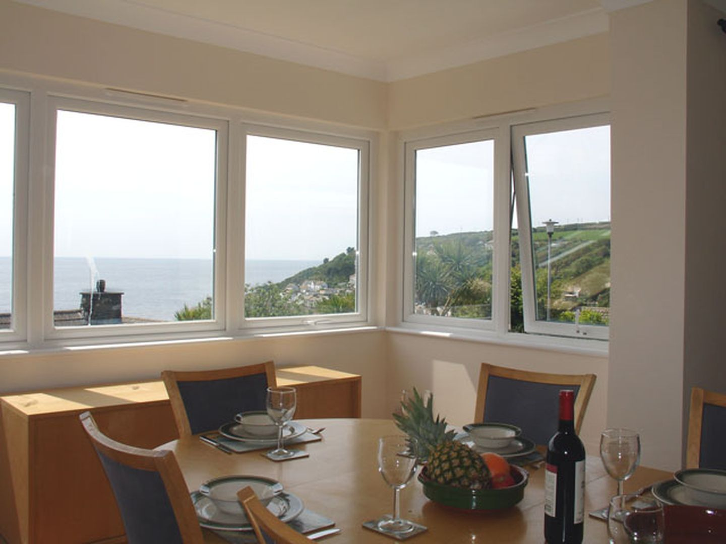 1 Gwelenys Road Dining Room With View