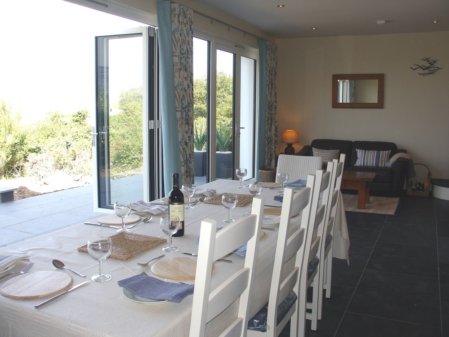 Castle View Port Isaac Dining Room With French Windows