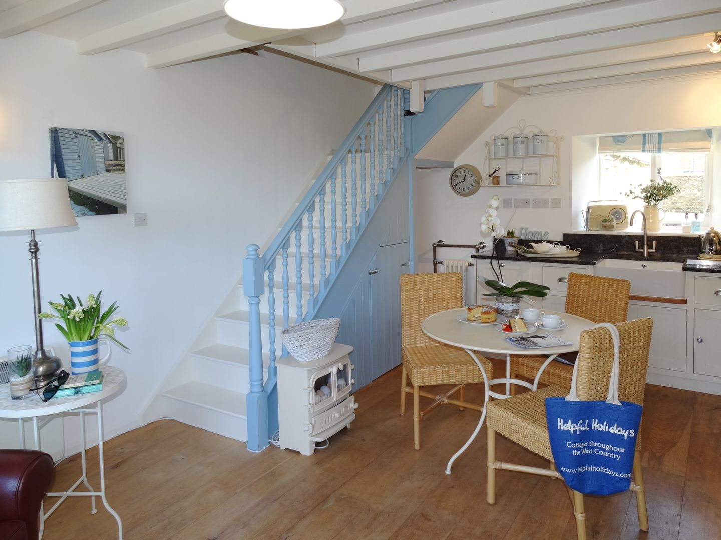 Coast Barn Newton Ferrers Dining Area To Stairs