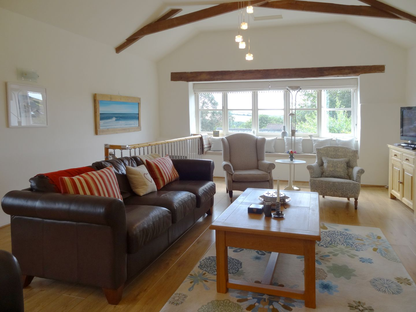 Crosscombe Barn Loddiswell Living Room With Sofas