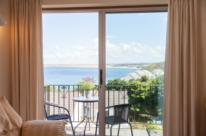 Mordros Carbis Bay View From Window To Sea